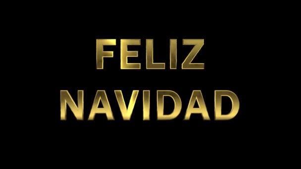 Particles collecting in the golden letters - Feliz Navidad