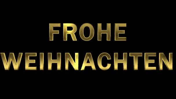 Particles collecting in the golden letters - Frohe Weihnachten