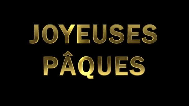 Particles collecting in the golden letters - Joyeuses Paques
