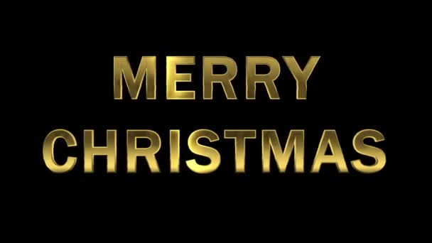 Particles collecting in the golden letters - Merry Christmas