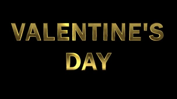 Particles collecting in the golden letters - Valentines Day