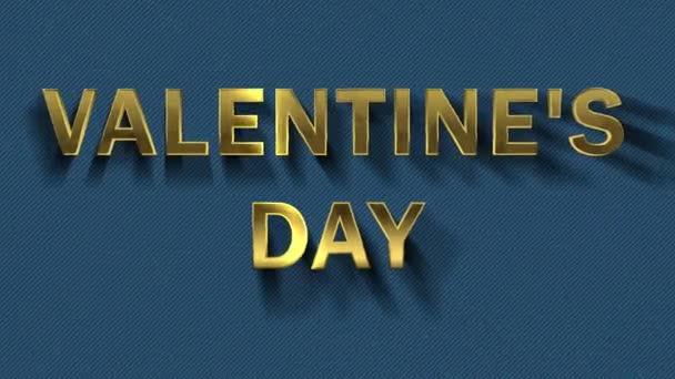 Barevné částice se přeměří na modré pozadí a text-den Valentinek