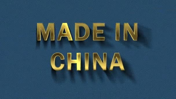 Particles collecting in the golden letters - Made in China