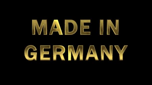 Gold letters collecting from particles - Made in Germany