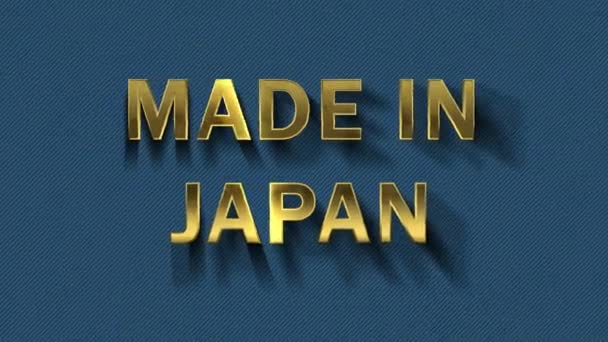 Gold letters collecting from particles - Made in Japan