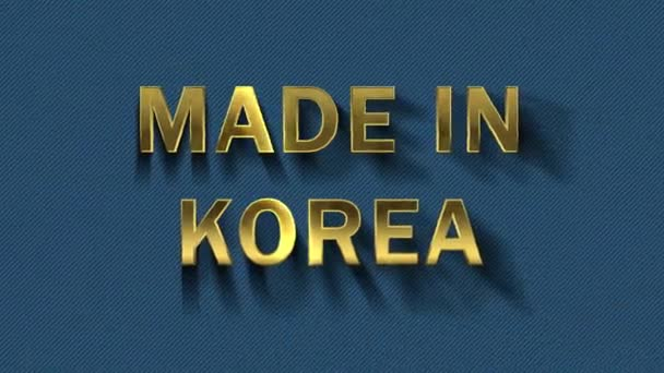 Gold letters collecting from particles - Made in Korea