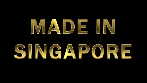 Gold letters collecting from particles - Made in Singapore