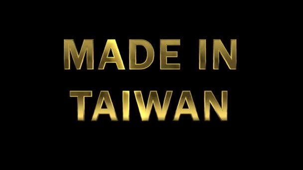Gold letters collecting from particles - Made in Taiwan