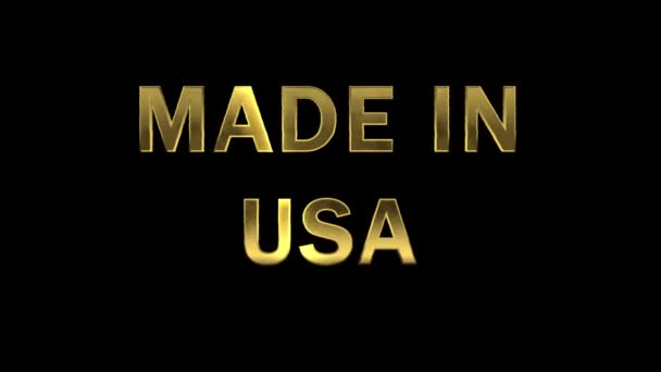 Gold letters collecting from particles - Made in USA