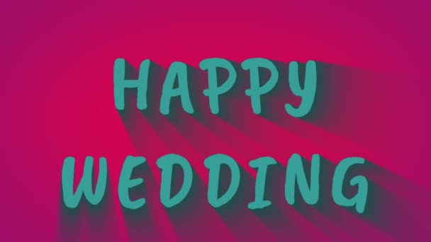 Swaying letter text Happy Wedding