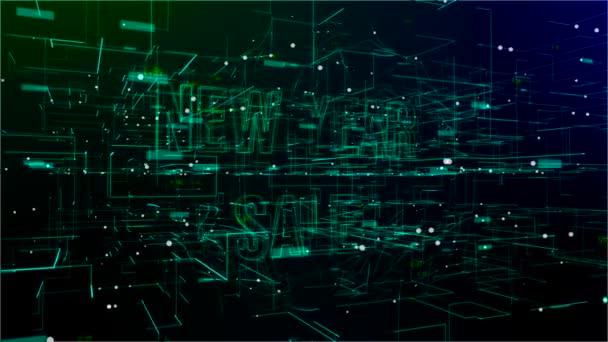 Animáció a digitális tér új év eladó szöveg