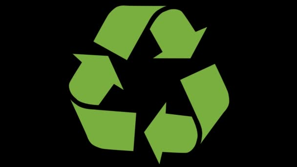 Animated recycling logo