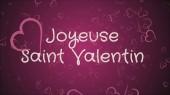 joyeuse saint valentin, glücklicher valentinstag in französischer sprache, grußkarte