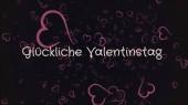 glucklicher Valentinstag, fröhlicher Valentinstag in deutscher Sprache, Grußkarte