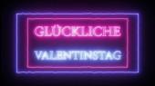 Leuchtreklame glucklicher valentinstag - fröhlicher valentinstag auf italienisch