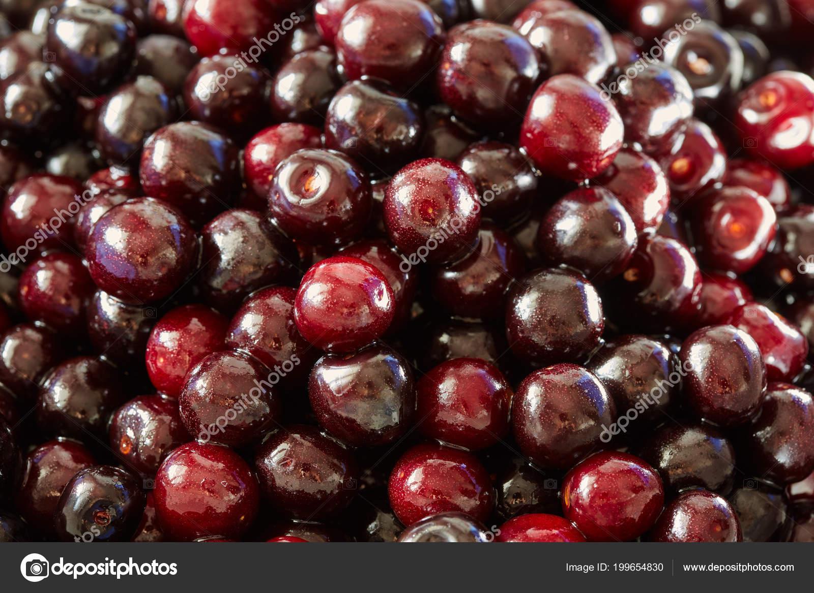 Heap wild bitter cherries full frame u stock photo xalanx