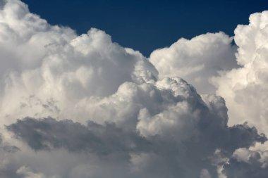 Cloudscape with big cumulonimbus clouds in summer