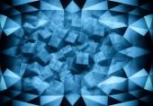 3D vykreslování pozadí abstraktní digitální technologie