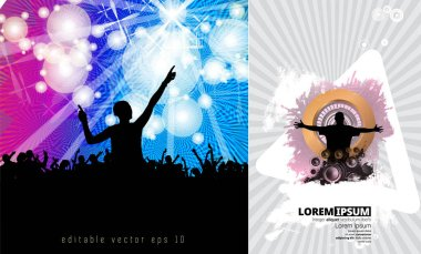 Party people in club - vector illustration