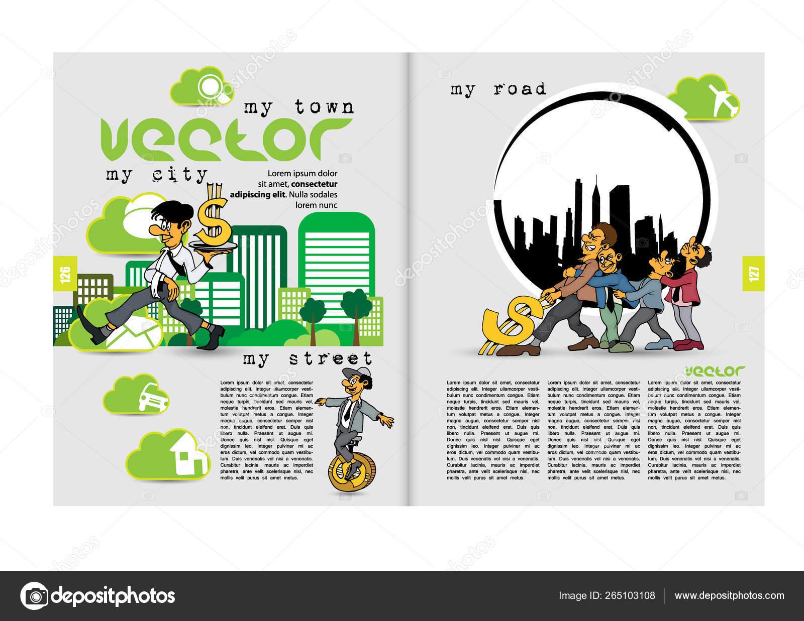 Design Vector Template Brochures Flyers Presentations