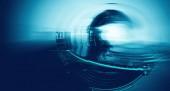 3D renderelés az absztrakt technológia digitális Hi-tech koncepció kész banner háttér