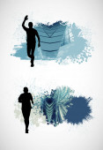 Running man. Sport background ready for poster or banner, vector