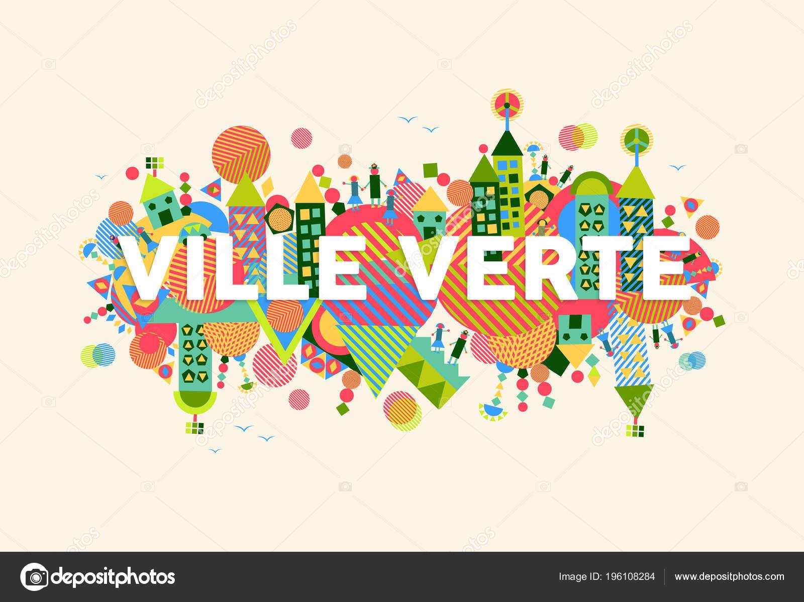 Citation Texte Coloré Ville Verte Français Langue