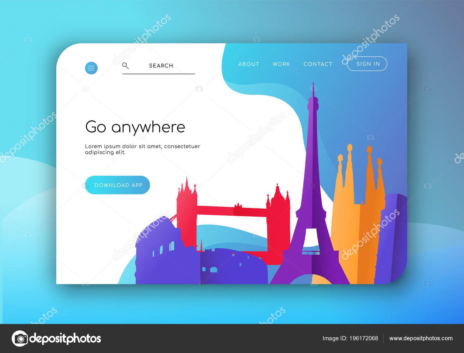 Plantilla Página Aterrizaje Web Para Empresas Agencia Viajes Diseño ...