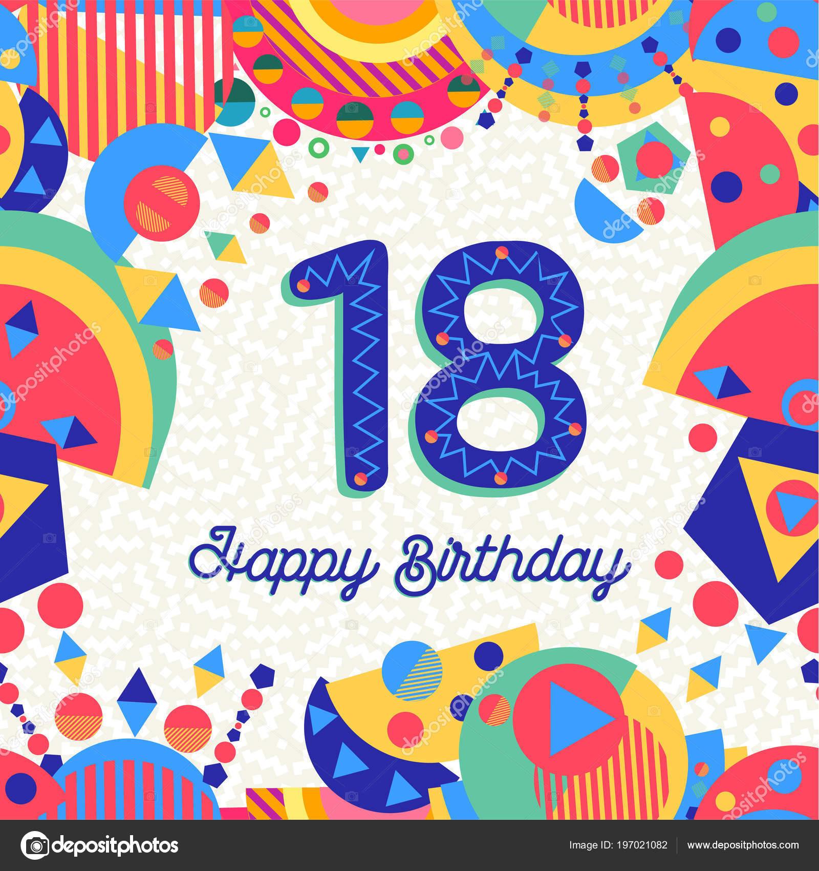 Tarjeta felicitacion 18 anos
