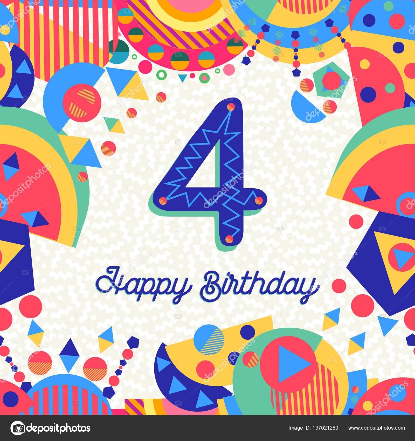 happy birthday jahr spaß design mit nummer beschriftung