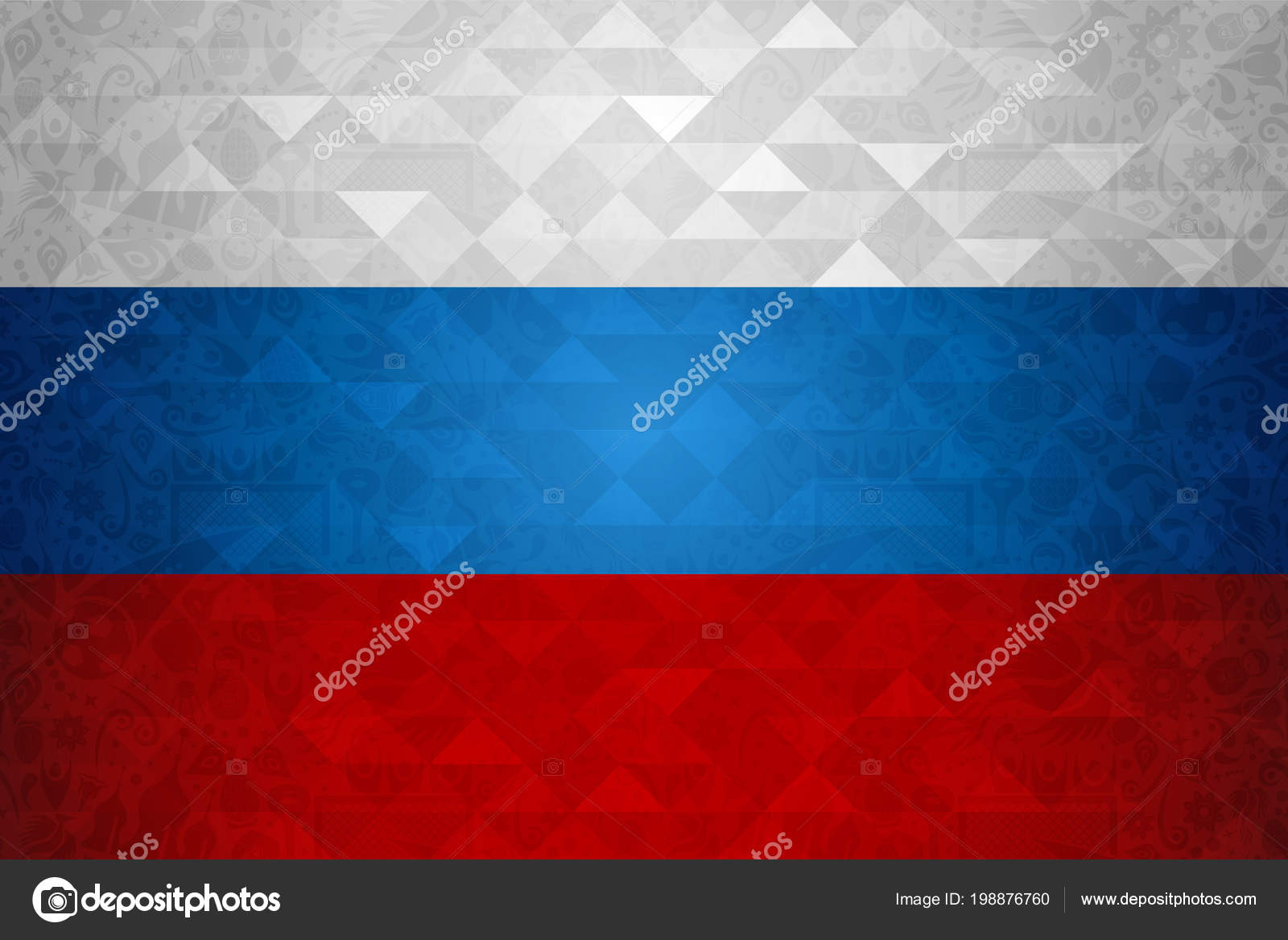 Russia Symbol Background Country Flag Colors Traditional Russian