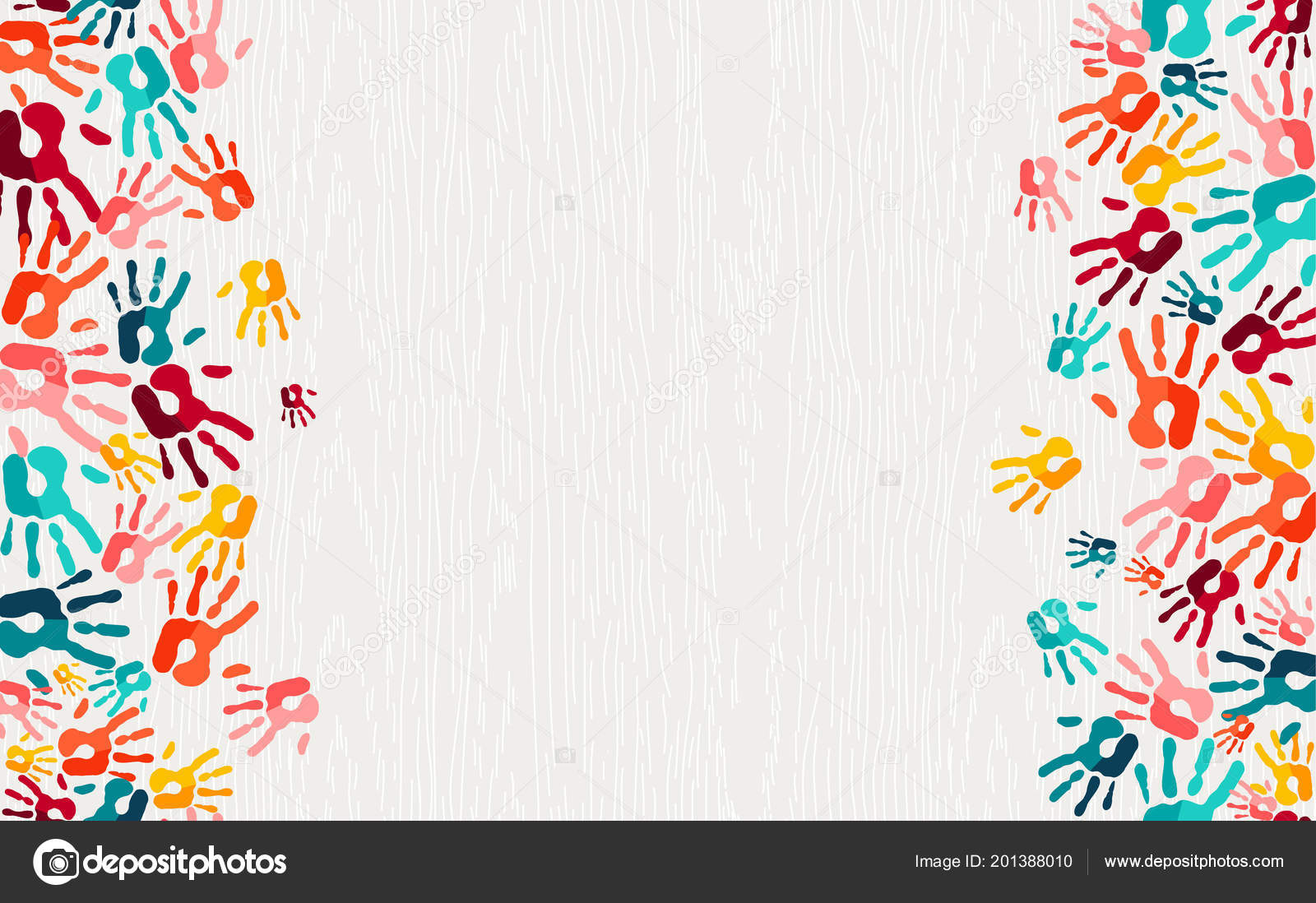 Color Handprint Background Concept Human Hand Print