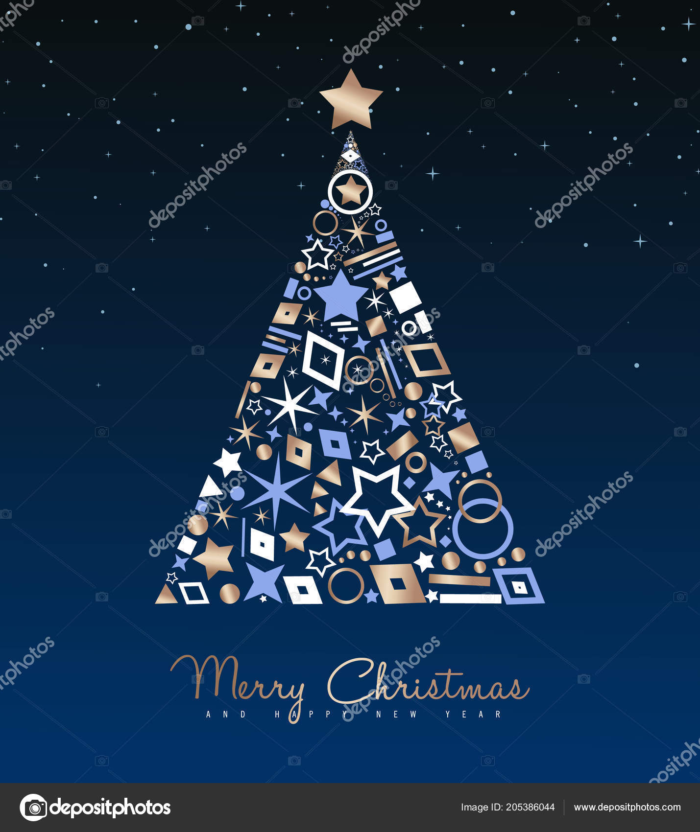 merry christmas new year luxury greeting card illustration xmas pine stock vector