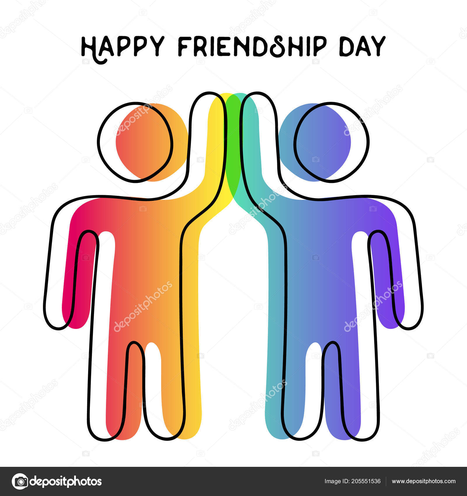 Happy friendship day greeting card friends doing high five special happy friendship day greeting card friends doing high five special stock vector m4hsunfo