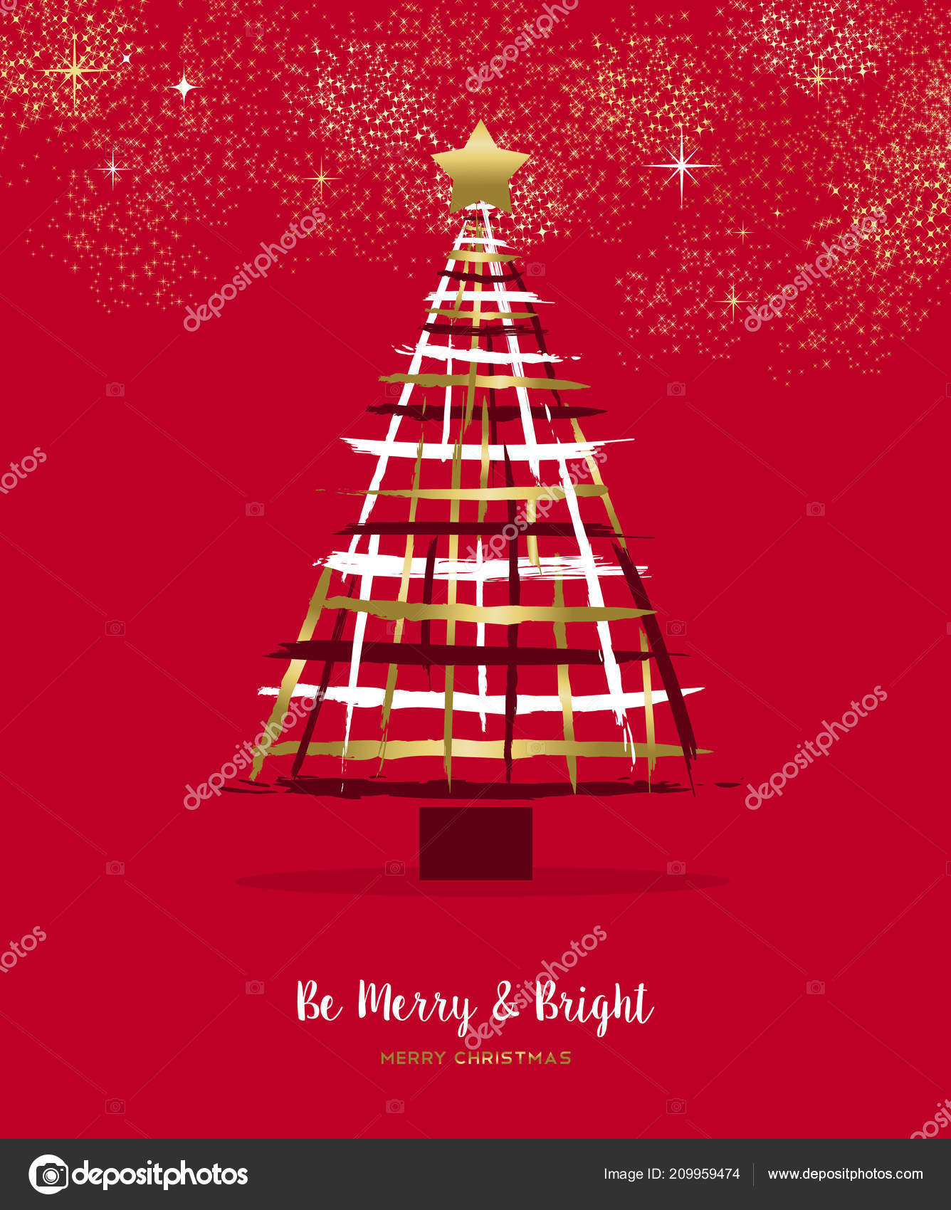 Merry Christmas Happy New Year Luxury Greeting Card Illustration ...