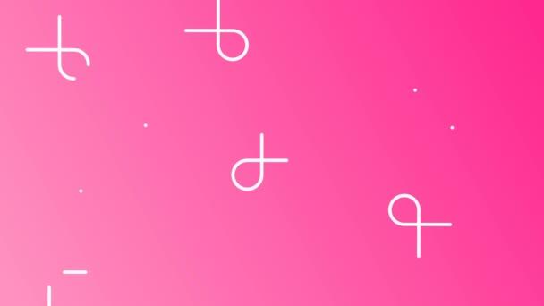 Prsu povědomí měsíc pozadí růžové barvy a stuha textu citace na podporu zdravotní péče. Vertikální telefon formát 2d záběry z prezentace, šablony kampaně