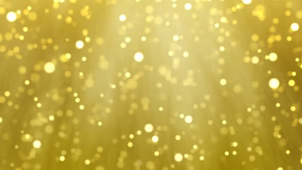 Gold Christmas light loop background, glitter effect template  Elegant  golden blur particles falling for celebration event greeting or holiday  screensaver  Xmas card 4k animation footage