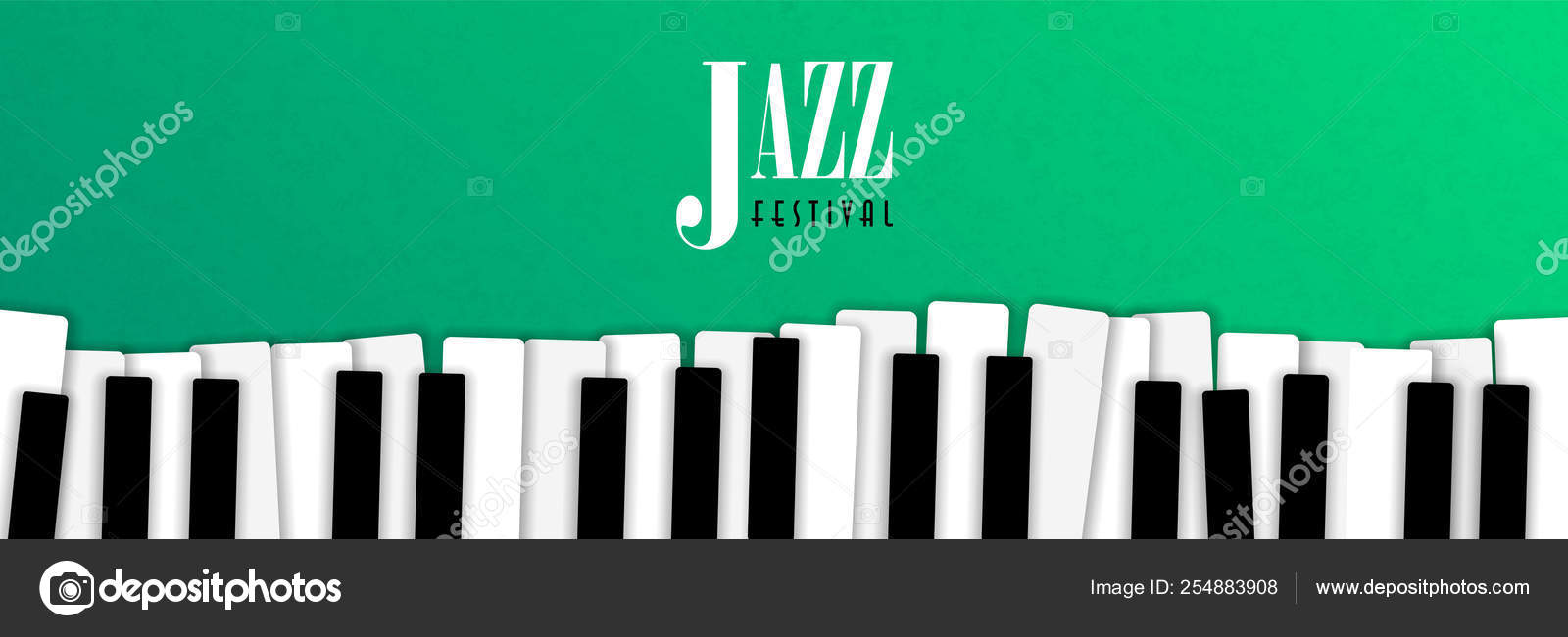 Jazz Music Event Banner With Piano Background Stock Vector C Cienpies 254883908