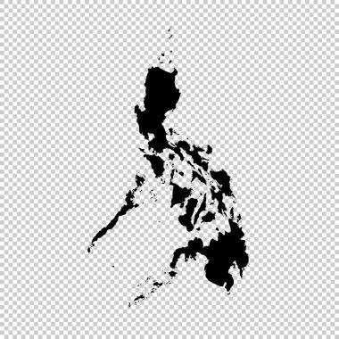 Vector map Philippines. Isolated vector Illustration. Black on White background. EPS 10 Illustration.