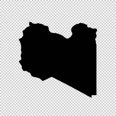 Vector map Libya. Isolated vector Illustration. Black on White background. EPS 10 Illustration.