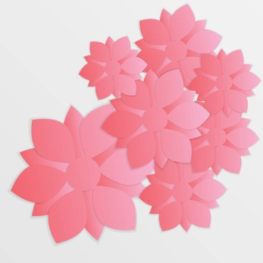 beautiful paper flower. Origami.