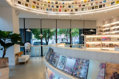 Taichung, Taiwan - September 10th, 2020: modern building interior of famous EP books shop in Taichung, Taiwan, Asia