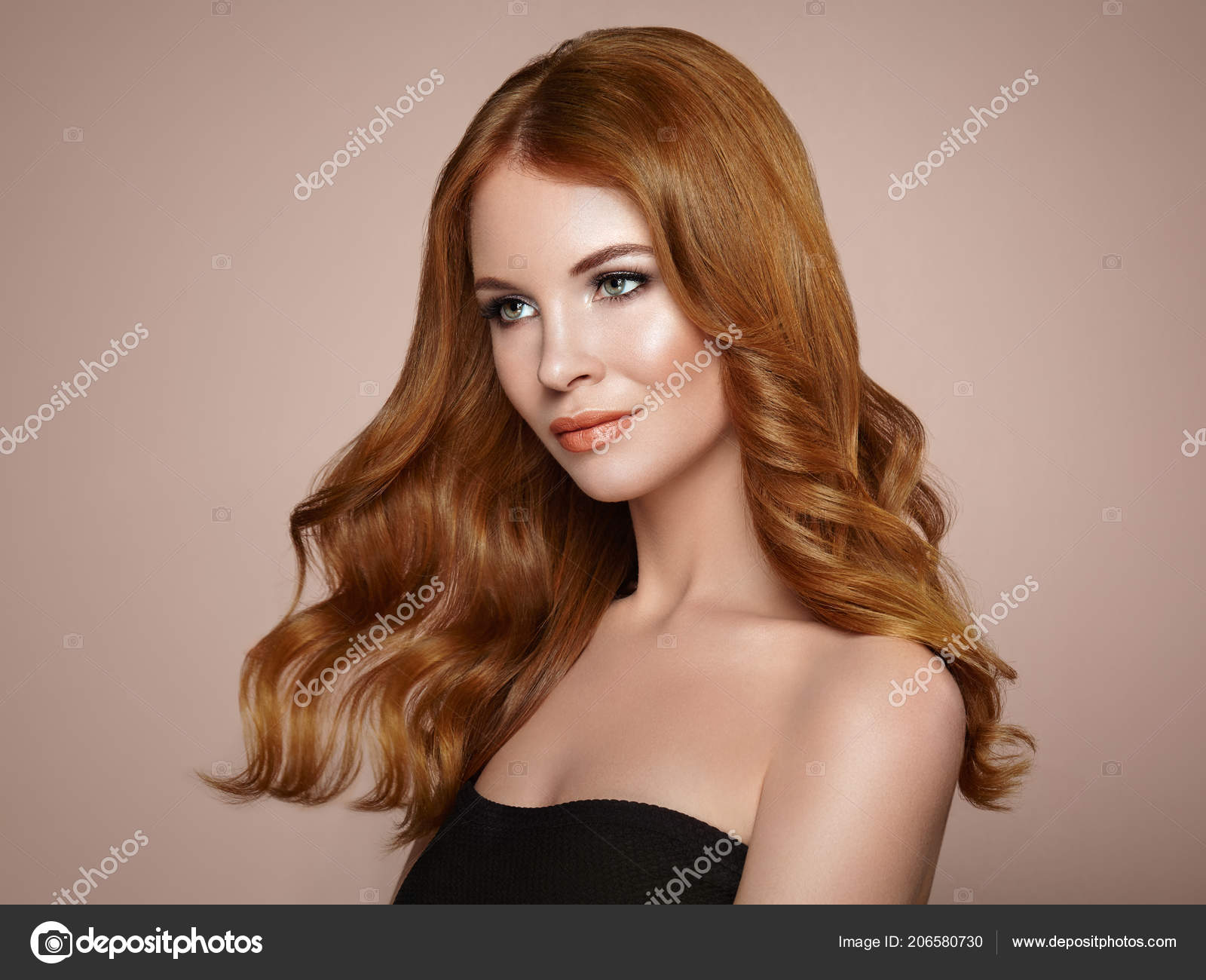 Beautiful model redhead