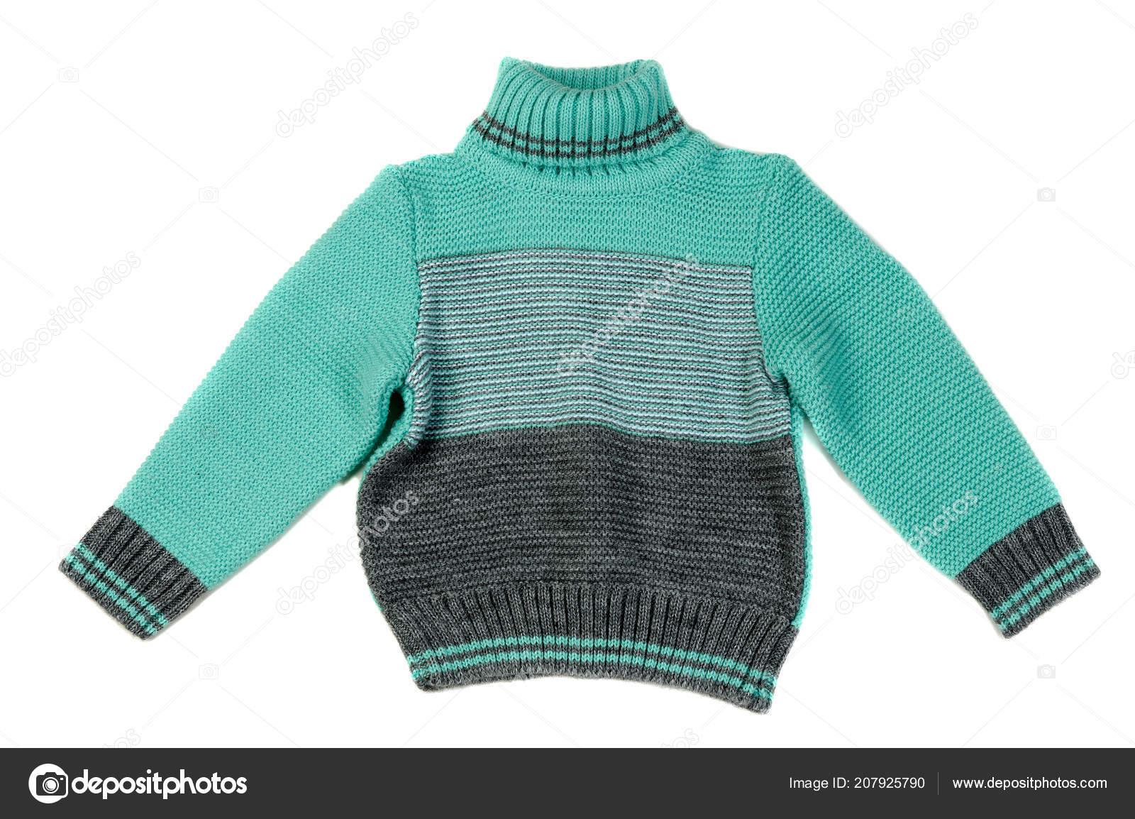 ef15f75a500c Παιδικά Πλεκτά Πουλόβερ Απομονωθεί Λευκό Φόντο — Φωτογραφία Αρχείου ...