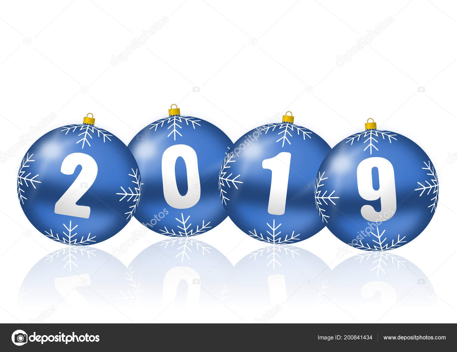 happy new year celebration holiday 2019 greeting card blue christmas stock photo
