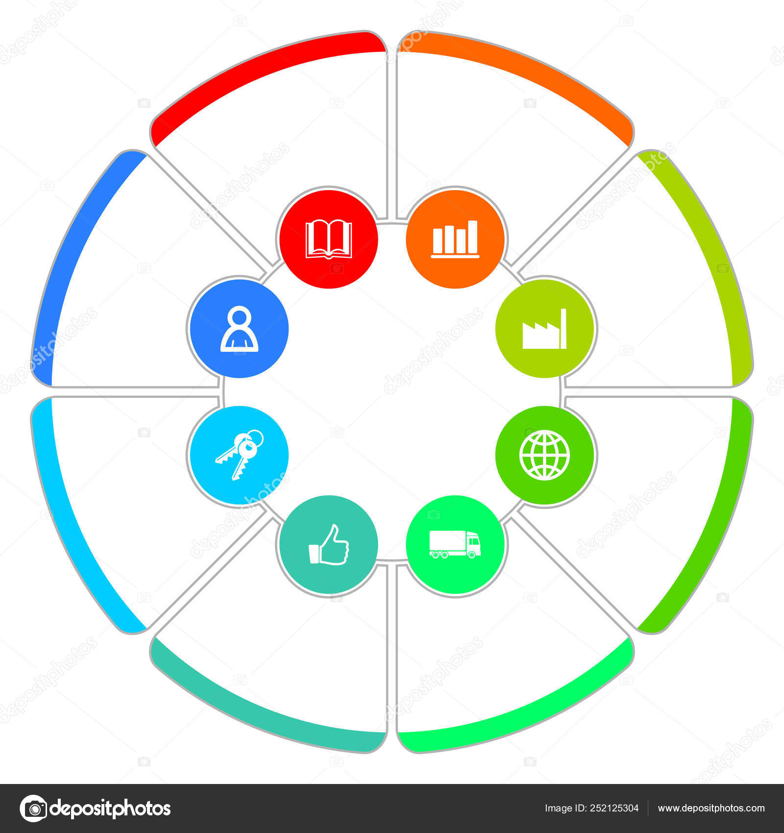 Simple editable infographic vector template for business