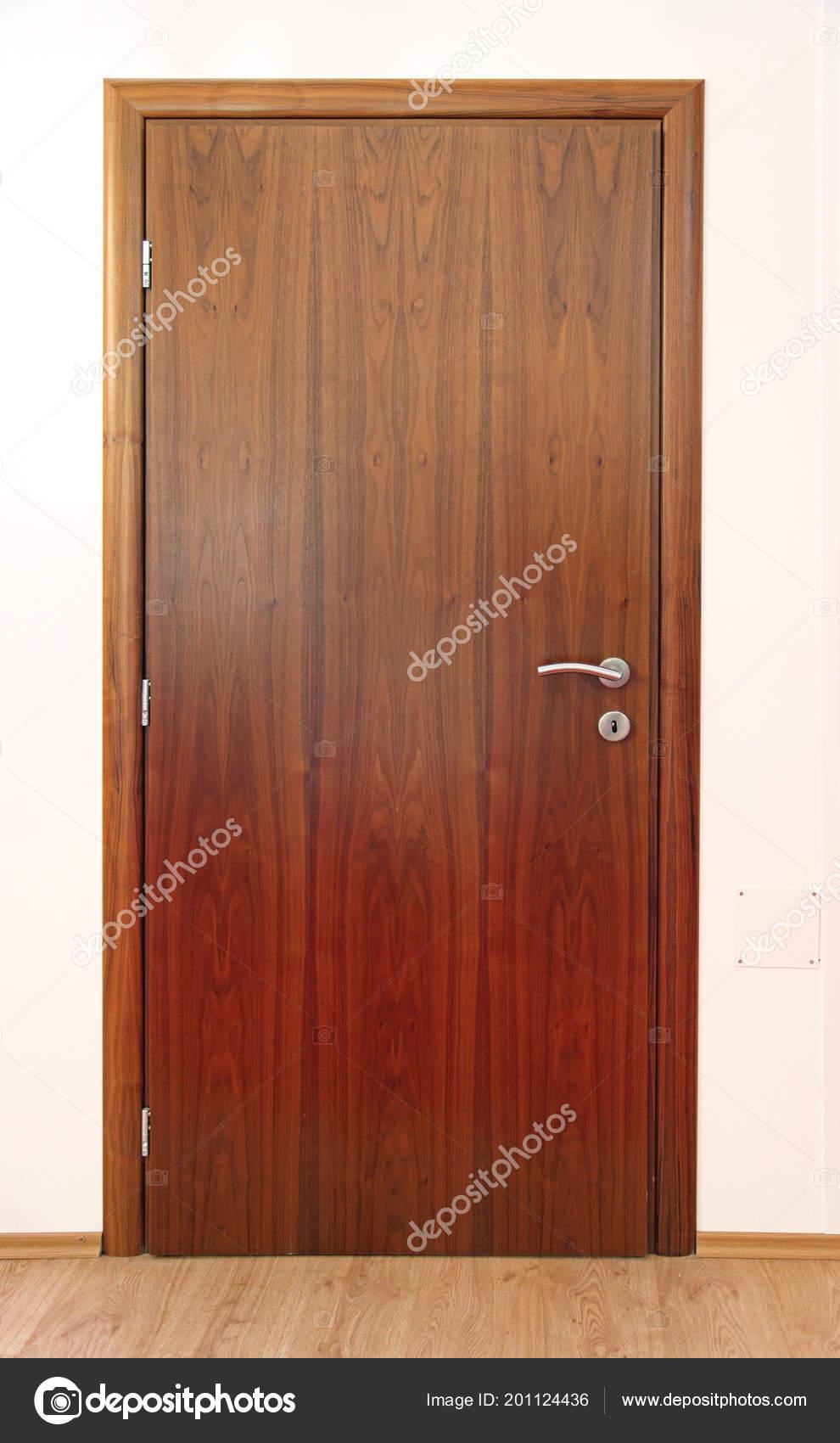 Wood Paneling Door Design Wooden Panel Door New Home Interior Stock Photo C Baloncici 201124436