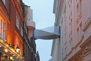Bridge Between Buildings in Floral Street at Covent Garden in London