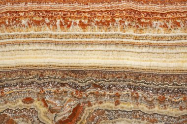 Cross Section of Marble Sedimentary Layers Decor