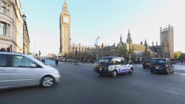 London, United Kingdom - November 19, 2013: Winter Day Traffic at Knightsbridge, London, United Kingdom.
